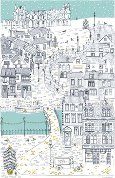 Bothams tea towel Whitby