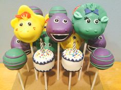 Barney and Friends Cake Pops | Birthday Cake Cake Pops