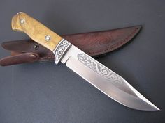 custom knives | ... Wooden Handle CUSTOM JAPANESE HUNTING KNIFE, Canada Knives And Swords