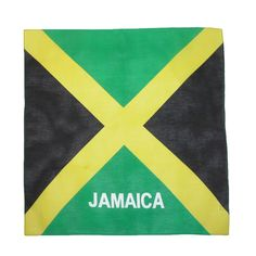 Represent Jamaica with this Jamaican flag print bandana!