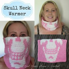 Crochet Skull Neck Warmer--free pattern: Knot Your Nana's Crochet