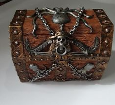 Pirates Treasure Chest Trinket / Mini Jewelry Box New IN BOX #PacificTrading