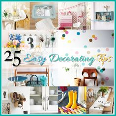 25 Easy Decorating Tips Craft Room Design and Organization Ideas DIY Gallery House Design Interior Desi. Porch Decorating, Decorating Tips, Interior Decorating, Cottage Decorating, Do It Yourself Food, Home Interior Design, Simple Interior, Modern Interior, Home Projects