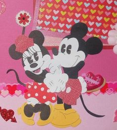 Classic Disney Mickey Mouse Valentines Scrapbook Layout