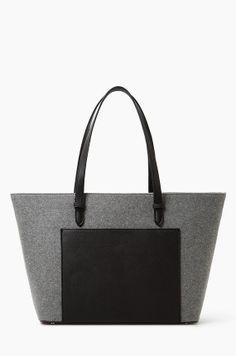 Shopper bag - Mango - Torebka szara Michele