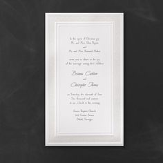 White Lace - Invitation. Available at Persnickety Invitation Studio.