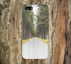 Golden Forest Path x Wood Road Design Case for iPhone and Samsung