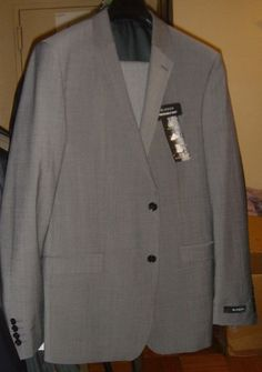 Blazer Marks & Spencer Wool Blend Lycra Suit Gray Size 38 34/33 New With Tags #Blazer #TwoButton
