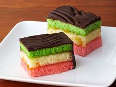 Rainbow Cookies Recipe : Food Network - FoodNetwork.com Use raspberry and apricot jams Add almond extract