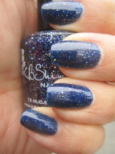Need some sparkle in your life? Check out the KB SHimmer Carpe Denim polish.