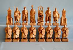 This Chess Battle on the ice is just one of the custom, handmade pieces you'll find in our chess shops. Chess Pieces, Game Pieces, How To Play Chess, Chess Table, Kings Game, Whittling, Wood Carving, Wood Crafts, Board Games