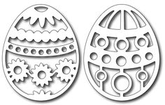 Frantic Stamper - Precision Dies - Easter Eggs (springtime & dots)-each egg is wide x tall with a beautiful filigree pattern --- note Scroll Saw Patterns Free, Laser Art, Frantic Stamper, Easter Printables, Wood Ornaments, Stained Glass Patterns, Egg Decorating, Easter Crafts, Paper Cutting