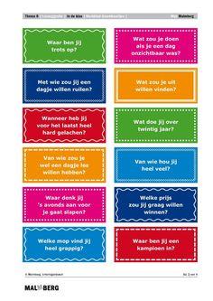 Leuke vraagkaartjes