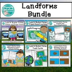 Landform Bundle Geography Centers and Project Based Learning Activities (Land and Water Forms, Montessori) Resource Room Teacher, Teacher Resources, Montessori Elementary, Elementary Teacher, Creative Teaching, Teaching Ideas, 2nd Grade Centers, Self Contained Classroom, Classroom Hacks