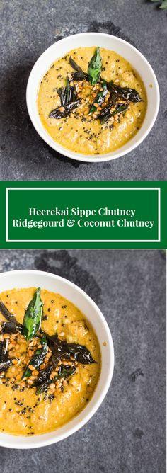 Flavorful Fibre filled chutney made from ridge gourd or heerekai (toorai) peel…