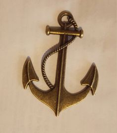 Anchor Charms Nautical Large Achor Charms by GoldendragonUS