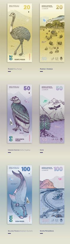 Argentinean Bills Redesign By Gilda Martini And Gabriela Lubiano - http://www.theinspiration.com/2017/04/argentinean-bills-redesign-gilda-martini-gabriela-lubiano/