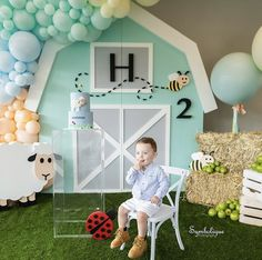 First Birthday Party Themes, Baby Birthday, Birthday Decorations, Birth Celebration, Baby Boy Themes, Farm Party, Backdrops For Parties, Event Decor, Party Planning