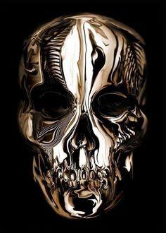 Alexander McQueen #gold #skull