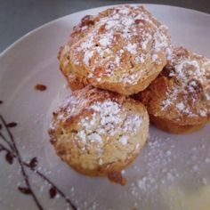 Pine nut and banana muffins Muffin Recipes, Pine, Caramel, Muffins, Banana, Breakfast, Food, Pine Tree, Sticky Toffee