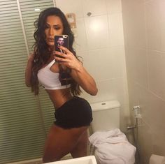 Gracyanne Barbosa White Top Black Shorts