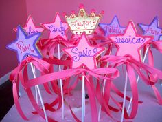 Princess Wand Cookies. For Makenna's princess themed party one day!