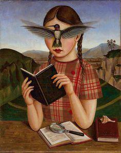 Leer abre la mente y hace volar la imaginación. humming bird girl, Studio Beerhorst