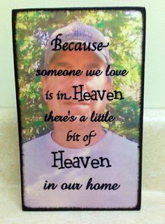 Custom Wood Plaque - In Loving Memory - Blocks From The Heart