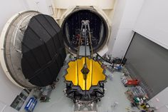Webb Telescope Set for Testing in Space Simulation Chamber #NASA Image of the day #photograhpy #photooftheday