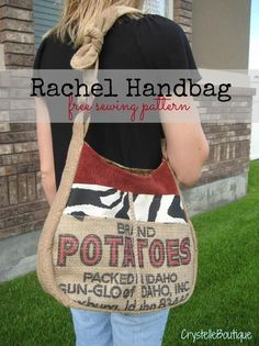CrystelleBoutique - Rachel Handbag - free sewing pattern. stinking cute with lots of handy pockets