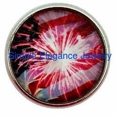 #3012 4th of July Fireworks Snap 20mm for Snap Jewelry