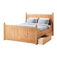 HURDAL Estruc cama&4 caj IKEA Al tener los laterales de la cama regulables, se pueden utilizar colchones de diversos grosores.