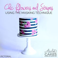 flowers-and-stripes-cake-pink-black-sm