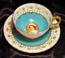 Aynsley Tea Cup & Saucer~ British Royalty ~ Queen Elizabeth II ~ Sepia Portrait ~ Turquoise Blue Royal Tea, Vintage Tableware, Earl Grey Tea, Chip And Joanna Gaines, China Tea Cups, Tea Service, My Cup Of Tea, Tea Cup Saucer, Vintage Tea