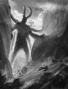 Mountain Titan by *SebastianWagner on deviantART