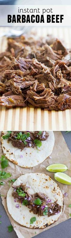 pice up dinner in a fraction of the time with this Instant Pot Barbacoa Beef! Chipotle and cumin make this perfect for tacos, burritos, enchiladas and more!