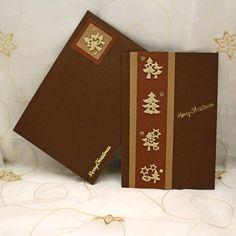 #christmas #card #handmade #artozpaper #brown #beige #stars #trees Brown Beige, Trees, Stars, Christmas, Handmade, Crafts, Xmas, Hand Made, Manualidades