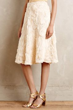 Tufted Blossom Midi Skirt - anthropologie.com #anthrofave