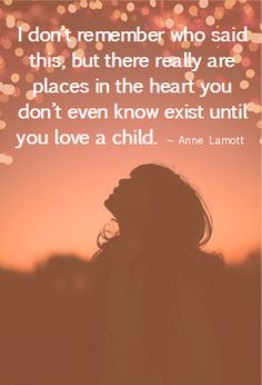 There is a place in your heart you don't even know exists until you love a child.