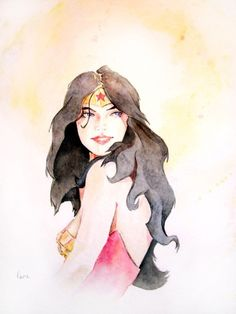 Water Color of Wonder Woman, awesome!