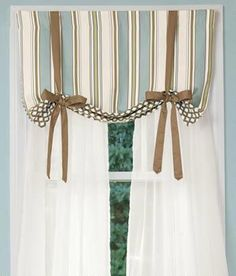 Sweetwater Stripe Lined Tie-Up Valance - Country Curtains®