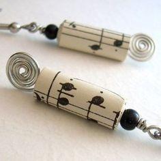 Cute Musical Earrings  cindylouwho2  etsy.com