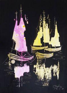 Sailboats in the dark 11
