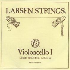 Larsen Strings Chromesteel Series Cello Strings D, Chromesteel, Medium