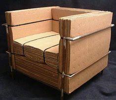 ¿Te sobran cajas después de la mudanza? Hazte un sillón reciclado.