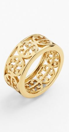 Tory Burch Logo Band Ring