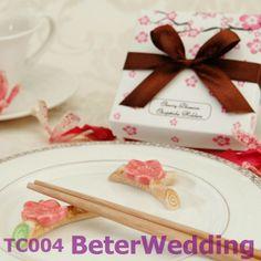 Cherry Blossom Chopsticks Holder(12pcs, 6set) TC004 use as Event Souvenir, Favor, gifts@BeterWedding on AliExpress.com. $12.00