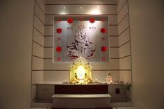 Place of Worship in an Indian Home. Customised designing by Thinking Elements Design Studio