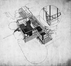 Richard Neutra Richard Neutra, Drawing Sketches, Sketching, Sketch Markers, Architecture Drawings, Best House Plans, American, Design Projects, Design Inspiration