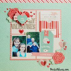 Pebbles We Go Together Layout by Becki Adams #scrapbooking #scrapbook #papercrafting